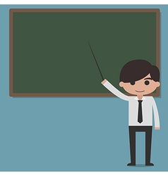 Professor presentation on blackboard vector