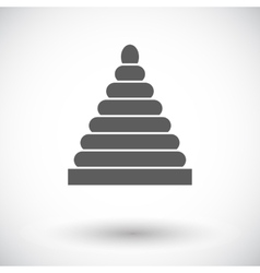 Pyramid toy flat icon vector image vector image