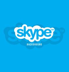 skype logo background image vector image