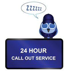 Twenty four call out service sign vector