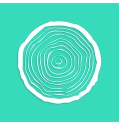White tree rings with shadow vector