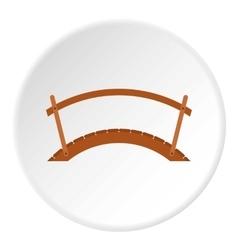 Wooden bridge icon flat style vector
