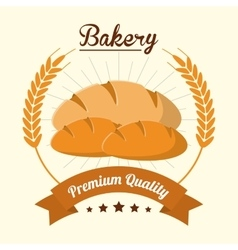 Bread wreath bakery food icon graphic vector