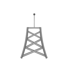 Cell phone tower icon black monochrome style vector
