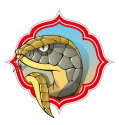 Chinese snake vector image