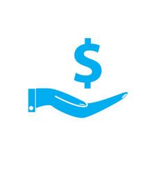 save money icon on white background save money vector image