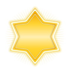 Golden Star vector image