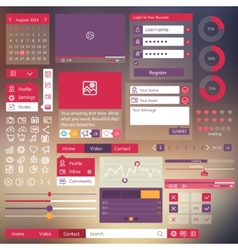 User interface flat design elements vector