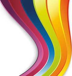 Bright rainbow lines colorful background vector image