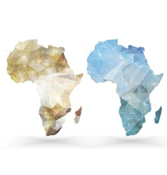 Africa map template triangle design vector