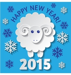 New year card with a sheep vector