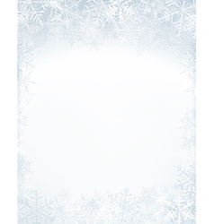 Christmas frame with crystallic snowflakes vector