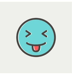 Funny thin line icon vector