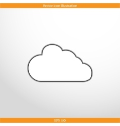 Cloud web flat icon vector