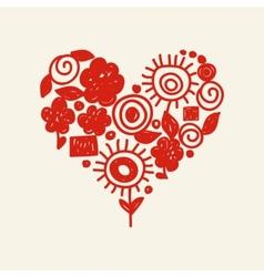 cute doodle heart vector image
