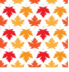 Seamless wallpaper autumn maple leaves vector