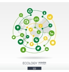 Ecology connection concept abstract background vector