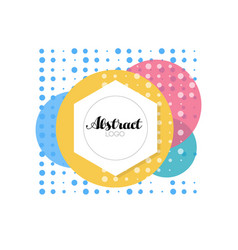 abctract logo template design element for brand vector image
