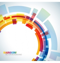 Abstract background with rainbow vector