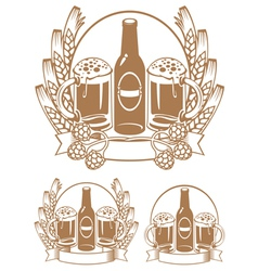 beer bottle ear vector image