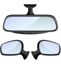 Car mirror set vector image vector image
