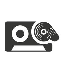 cassette retro with audio icon vector image vector image