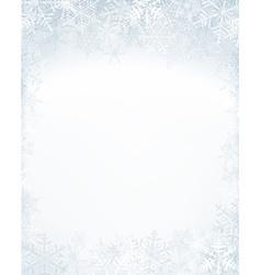Christmas frame with crystallic snowflakes vector image