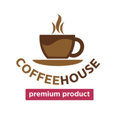 coffee house cafeteria or cafe cup steam vector image