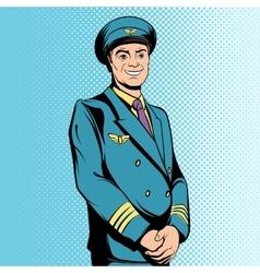 Comics flight captain vector