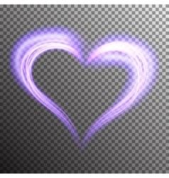 Creative shiny heart shape vector image vector image