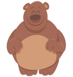 Cute bear cartoon animal vector