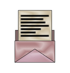 email paper envelope message postal communication vector image