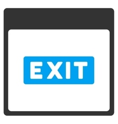 Exit caption calendar page toolbar icon vector