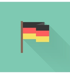 Flat germany flag with long shadow vector