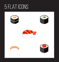 Flat icon sashimi set of gourmet japanese food vector