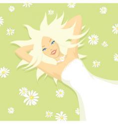 girl sun vector image vector image