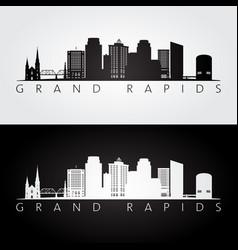grand rapids usa skyline and landmarks silhouette vector image