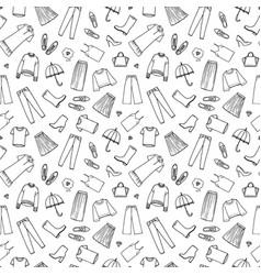 hand drawn womens clothing vector image