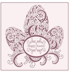 Happy Easter card or frame vector image