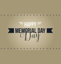 happy memorial day collection stock style vector image