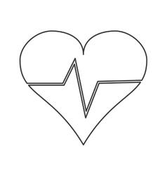 Heart cardiogram icon vector