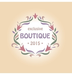 logo with a vignette of flowers Boutique perfumes vector image