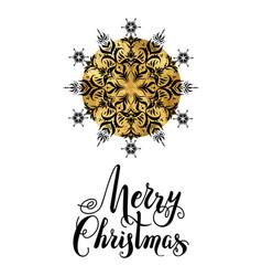 merry christmas snowflake vector image vector image