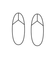 plip flops icon vector image vector image