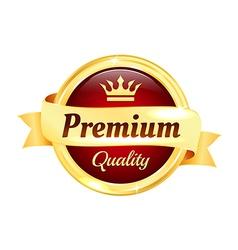 Premium high quality golden badge vector