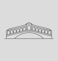 Rialto bridge vector