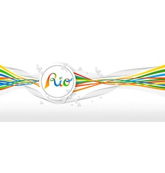 Rio brazil color banner design with abstract art vector