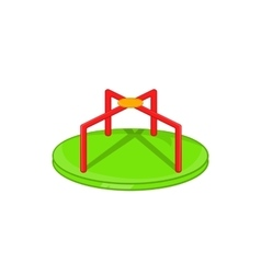 Round teeter icon cartoon style vector