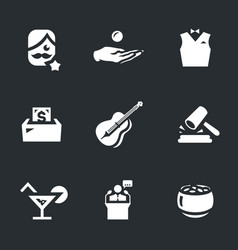 Set of charity event icons vector