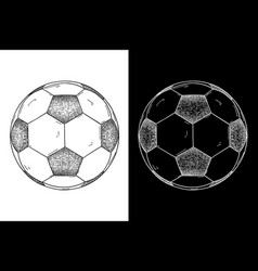 soccer ball hand drawn sketch vector image vector image
